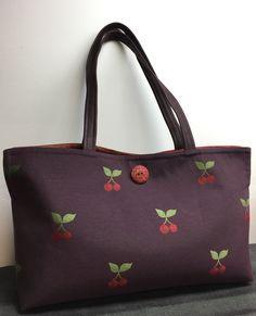 Green Mountain Knitting Bags — Split Top Tote no pockets, plum