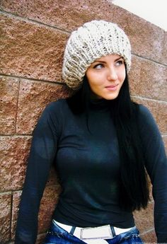 Instant Download Knitting Pattern Slouchy Beanie by natalya1905