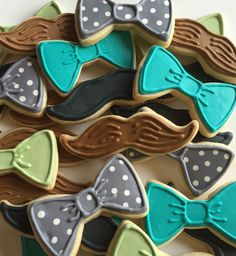 1 DOZEN Bow Tie Sugar Cookies by SavannaSweets on Etsy https://www.etsy.com/listing/250027276/1-dozen-bow-tie-sugar-cookies