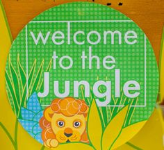 """ETSY Jungle Party Circle Decals that you print at home:  $4.75 for PDF download,  they're 6"""" circles"""