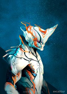 Excalibur - Warframe by ChristianKlement on DeviantArt Warframe Excalibur, Warframe Art, Robot Concept Art, Armor Concept, Warframe Characters, Ajin Manga, Cyberpunk, Character Art, Character Design