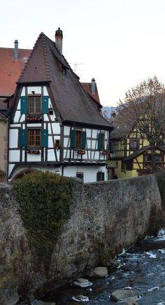 Sfeerimpressie van het dorpje Kaysersberg in de Elzas - Passie voor Frankrijk