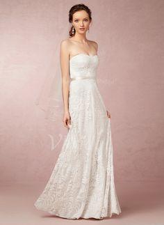Bruidsjurken - $208.49 - A-Lijn/Prinses Strapless Sweetheart Vloer lengte Kant Bruidsjurk (0025057952)