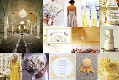 Mood: subdued elegance  Palette: pale gray, pale sunshiny yellow, white