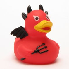 Devil rubber duck with black wings: Amazon.co.uk: Baby