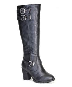 Another great find on #zulily! Bamboo Black Rattle Calf-High Boot by Bamboo #zulilyfinds
