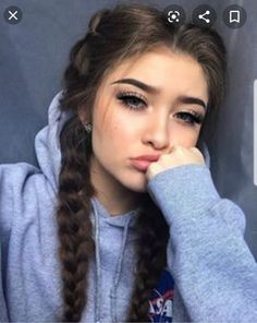 Red Inward Braids for Rocking Queens - 20 Under Braids Ideas to Disclose Your Natural Beauty - The Trending Hairstyle Pretty Hairstyles, Braided Hairstyles, Hairstyles Tumblr, Night Hairstyles, Sporty Hairstyles, Instagram Hairstyles, Heatless Hairstyles, Teen Hairstyles, Hair Inspo