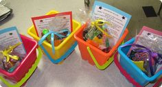 End of the year buckets for kids.. Survival Kit for Life