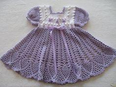 Vestido crochet niña 1 año - Imagui
