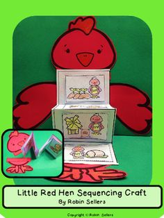 Little Red Hen {Little Red Hen Sequencing Card Craft} (Fall Bake Bread) Sequencing Cards, Sequencing Activities, Preschool Literacy, Kindergarten Reading, Kindergarten Activities, Bilingual Kindergarten, Fairy Tale Theme, Fairy Tales, Little Red Hen Story