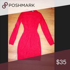 Victoria's Secret red angora sweater Victoria's Secret size xs red sweater dress Victoria's Secret Dresses Mini