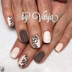40 Easy Amazing Nail Designs For Short Nails - Nägel - Nageldesign Fancy Nails, Diy Nails, Cute Nails, Pretty Nails, Fabulous Nails, Gorgeous Nails, Short Nail Designs, Nail Art Designs, Nails Design
