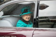Although the weather was less than favourable the royal was unable to take the smile off h...