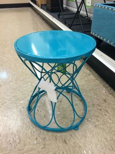 Turquoise side table- HomeGoods!