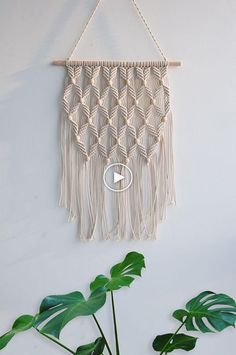 Arrow Pattern Macrame Woven Wall Hanging - Gypsy BOHO Chic Bohemian Hippie Aztec Tribal Wall Art Decor - Living Room Bedroom Nursery Decoration - Apartment Studio Dorm Room Wall Decor, Conscious Clever Tips: Floating Shelves Books Window floating Macrame Design, Macrame Art, Macrame Projects, Macrame Knots, Macrame Modern, How To Macrame, Macrame Mirror, Oak Floating Shelves, Rope Shelves