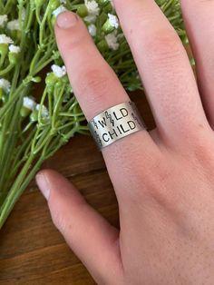 Metal Stamped Bracelet, Stamped Jewelry, Western Chic, Ring Crafts, Thumb Rings, Wild Child, Bending, Boho Rings, Metal Stamping