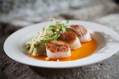 Seared Sea Scallops, Shell Pea Risotto | Flickr - Photo Sharing!