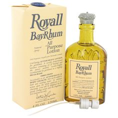 Royall Bay Rhum by Royall Fragrances All Purpose Lotion / Cologne with sprayer 4 oz (Men) Whiskey Bottle, Vodka Bottle, Discount Perfume, After Shave Lotion, Cologne Spray, Body Lotions, T 4, Bath And Body, Fragrances