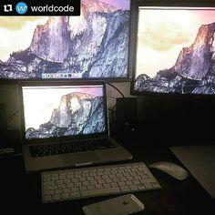 LOTS OF Monitors #Repost @worldcode with @repostapp  #Repost @ariel.weinberger posted: New setup.  #netspace -------------------- #osx #macbook #macbookpro #development #developer #web #mobile #node #nodejs #apple #js #javascript #php #laravel #nginx #linux #unix #design #programmerrepublic #worldofcode #worldcode #code #sublime #webstorm #webdevelopment  #programming #developing by cesarnoel