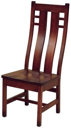Alamo High Back Dining Chairs - Countryside Amish Furniture Wooden Dining Table Designs, Chair Design Wooden, Wooden Dining Chairs, Wooden Sofa, Dining Room Chairs, Wooden Furniture, Table And Chairs, Amish Furniture, Office Chairs