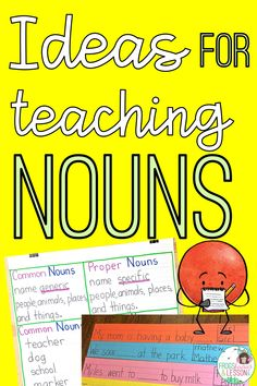 Try these ideas for teaching nouns and make you noun lessons work! I have anchor charts, ideas and activities in this easy to follow blog post! Make sure to grab your FREEBIES! Noun Activities, Teaching Nouns, Common And Proper Nouns, Buy Milk, Activity Board, Elementary Education, Anchor Charts, Grade 1, Homeschool