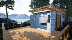 This is a 129 sq. ft. shipping container tiny home for sale in Port Coquitlam near Vancouver, BC. From the outside, it seems like it has a modern look and feel. And since it's a shipping cont…