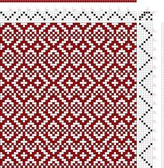 draft image: Threading Draft from Divisional Profile, Tieup: Another twill variation drafted with Pixeloom., Draft #54022, 4S, 6T