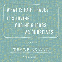 What does #FairTrade mean to you?