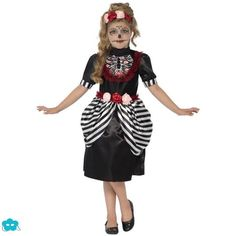 Disfraz de muerte mejicana para niña