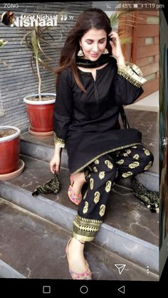 blackkk Woman Knitwear and Sweaters nasty woman dog sweater Simple Pakistani Dresses, Pakistani Fashion Casual, Pakistani Dress Design, Pakistani Outfits, Indian Outfits, Indian Fashion, Emo Outfits, Stylish Dresses For Girls, Stylish Dress Designs