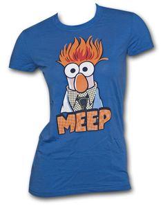 The MUPPETS Beaker Meep Tee Shirt. Too Cute!