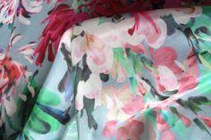 Dahlia Sorbet - Cotton/Silk - Tessuti Fabrics - Online Fabric Store - Cotton, Linen, Silk, Bridal & more