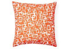 90 Degrees 20x20 Outdoor Pillow, Orange