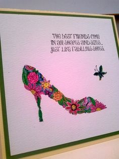 Fancy Footwear by gr8cards - Cards and Paper Crafts at Splitcoaststampers