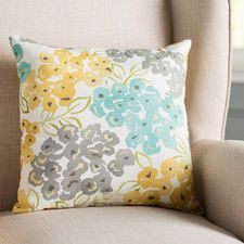 Hollansburg Floral Cotton Throw Pillow