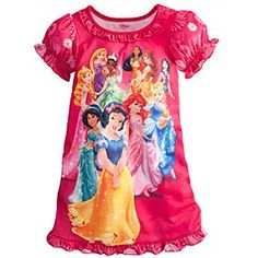 Ruffled Disney Princess Nightshirt for Girls | Disney StoreRuffled Disney Princess Nightshirt for Girls - There's a royal gathering on the front of this ruffled Disney Princess Nnghtshirt. All ten of our princesses are featured on this regal sleepwear that will make every bedtime a fairytale occasion.