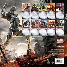 [Marvel: Avengers: Age Of Ultron: 2016 Square Calendar (Product Image)]
