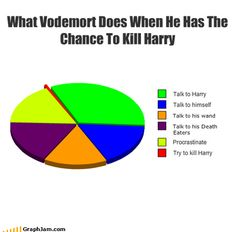 The reason Voldemort failed to kill Harry Potter is because he's got the resolve of a college student who thinks that they can put off finishing their final for yet another day. Harry Potter Universe, Harry Potter Puns, Harry Potter World, Harry Potter Characters, Drarry, Dramione, Fandoms, Hogwarts, Philosophical Questions