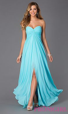 Long Strapless Sweetheart Gown by Faviana at PromGirl.com