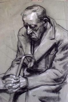 Tonal drawing exemplar. Robert Hannaford (1944 - )