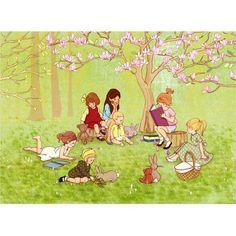 Belle & Boo - The Reading Group Illustration Mignonne, Children's Book Illustration, Painting For Kids, Art For Kids, Lapin Art, Rabbit Crafts, Poems Beautiful, Bunny Art, Vintage Artwork