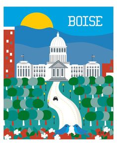Boise, Idaho wall art is available in an array of finishes, materials, and…