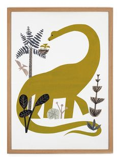 Dinosaur Poster designed by Christian Robinson for the Human Empire Artist Series