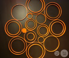 circles paintable wall decor
