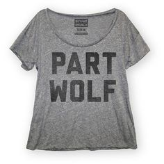 Part Wolf Tee Women's Gray now featured on Fab.