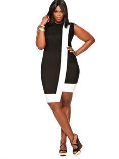 preto e branco big size fashion http://amzn.to/2kRZpiY