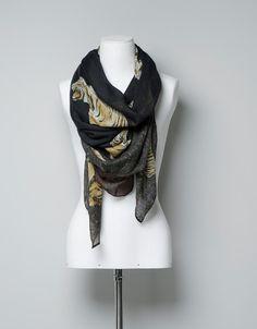 TIGER PRINT SCARF - Scarves - Accessories - Woman - ZARA United Kingdom