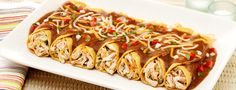 Enchiladas with Black Bean Sauce... Great for family and friends.