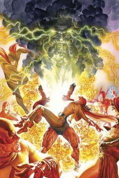 Project Superpowers: Chapter Two #8 Variant Cover//Dynamite/Alex Ross/ Comic Art Community GALLERY OF COMIC ART