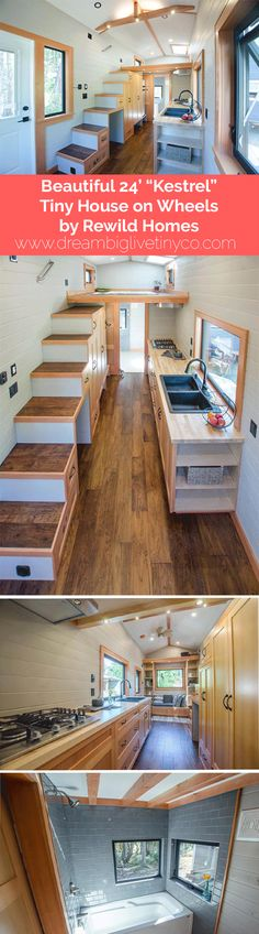 "Beautiful 24' ""Kestrel"" Tiny House on Wheels by Rewild Homes"